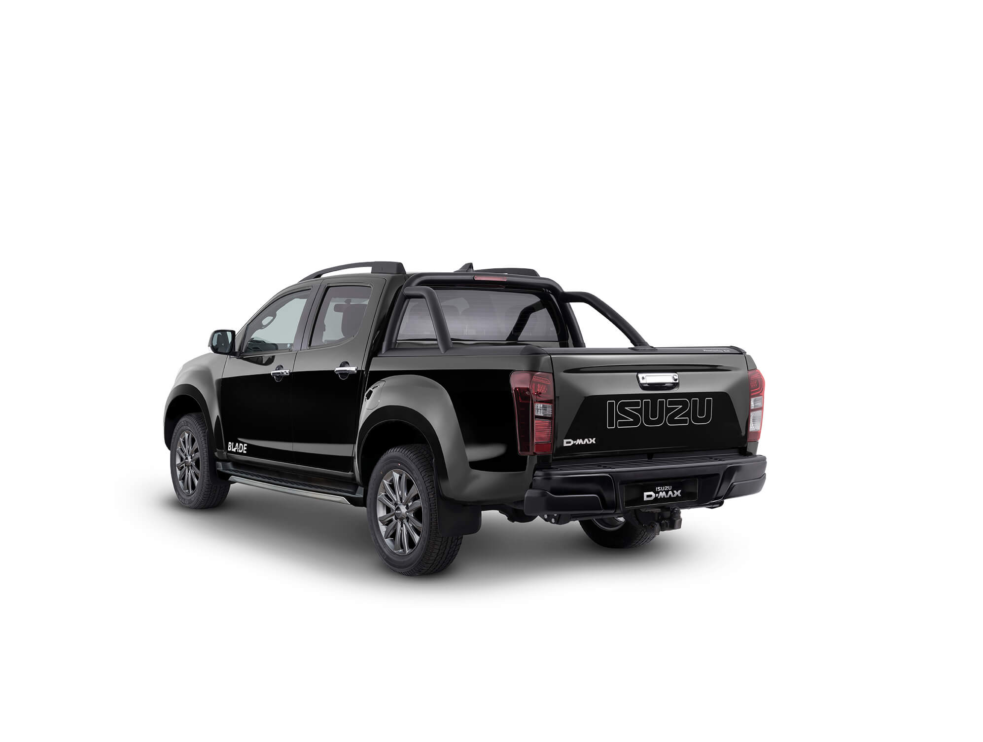 Rear view of the Isuzu D-Max blade in black
