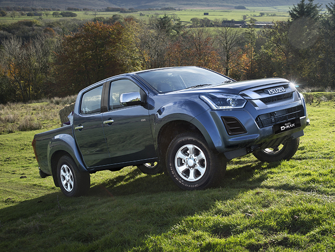 Isuzu D-Max Eiger driving up-hill