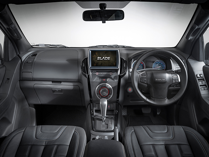 Interior view of the Isuzu D-Max Blade