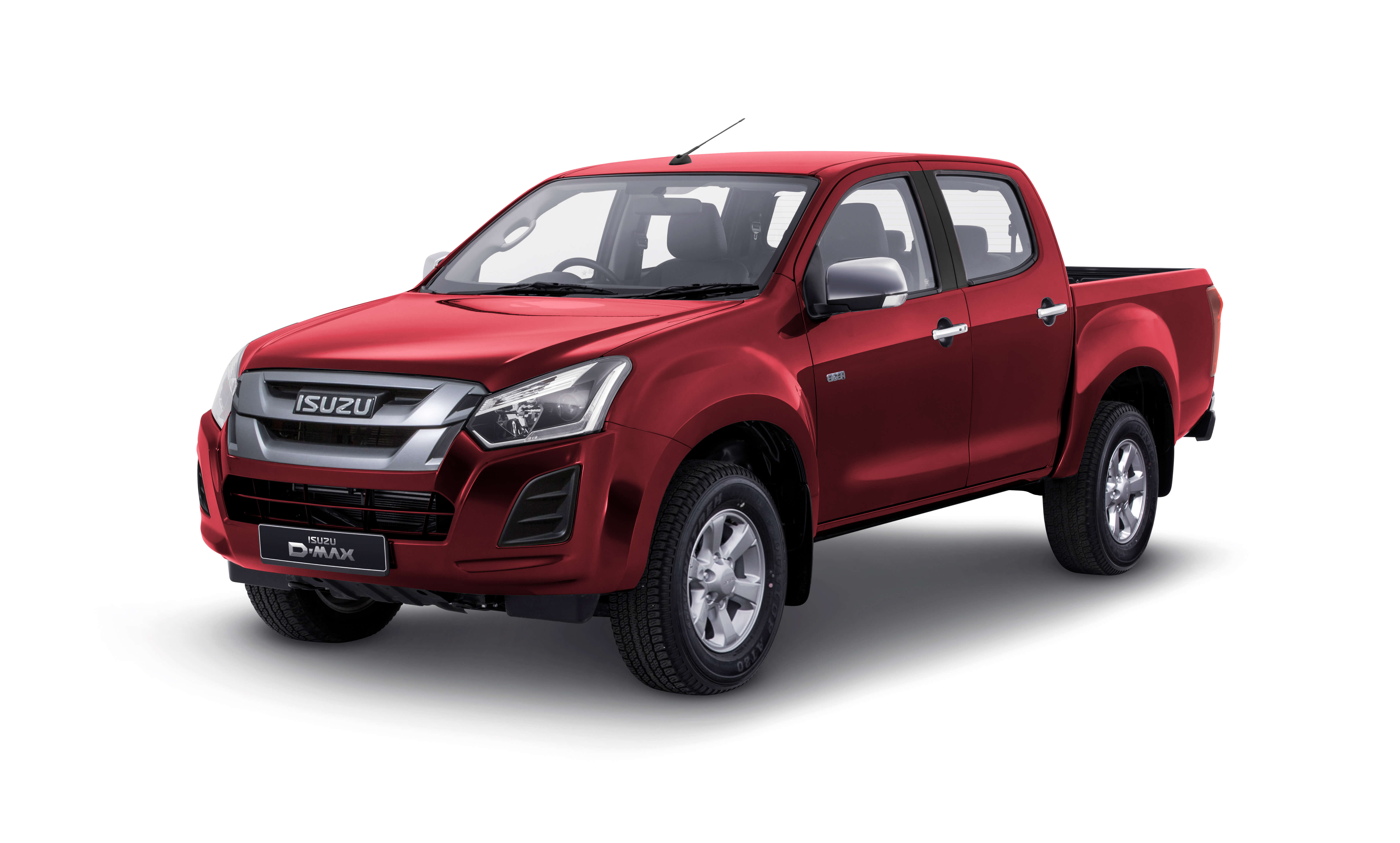 Isuzu D-Max Eiger rear view in red