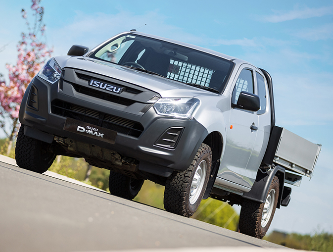 Isuzu D-Max Utility Extended Cab Tipper Conversion driving on road