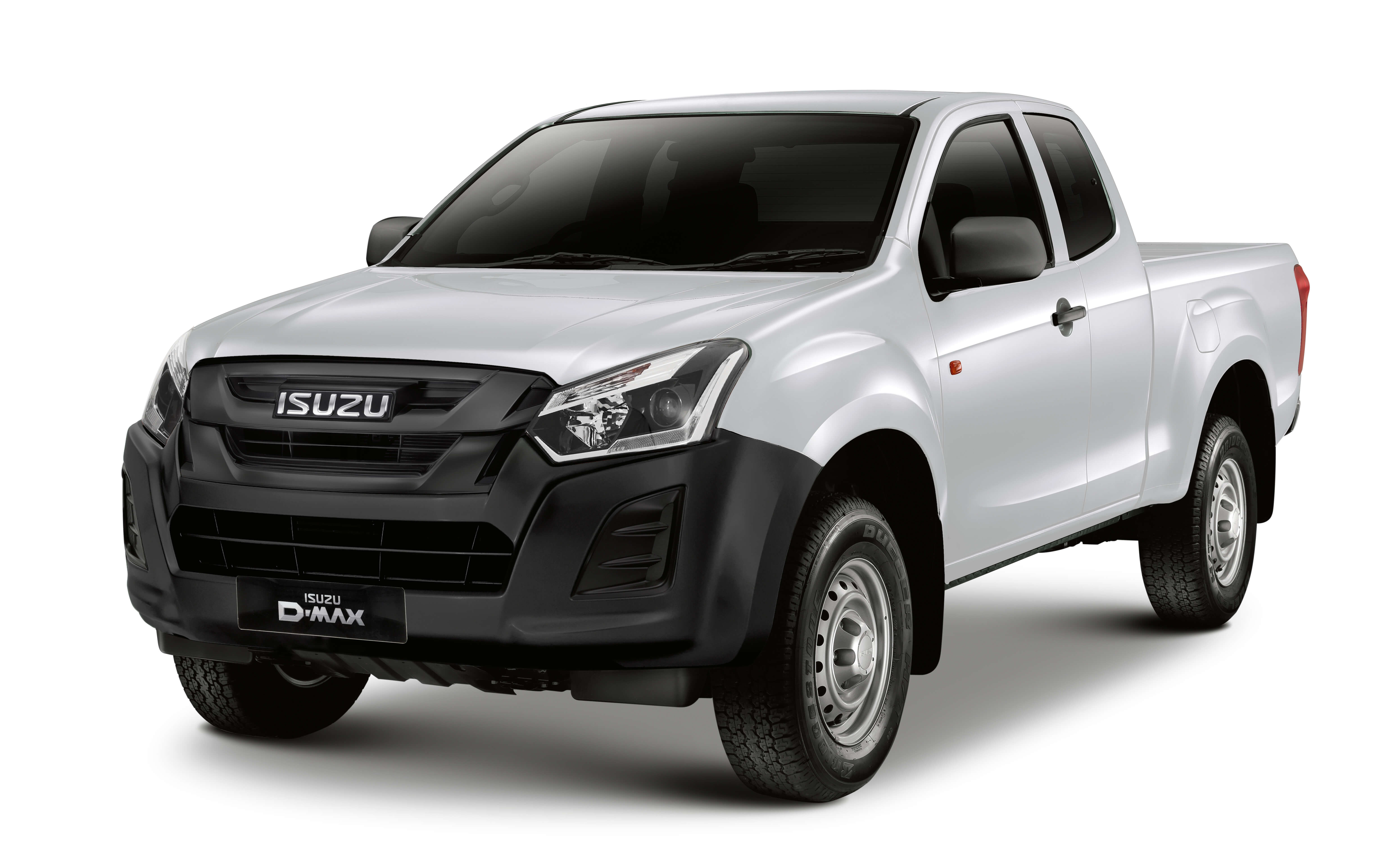 Isuzu D-Max Utility extended cab in white front view