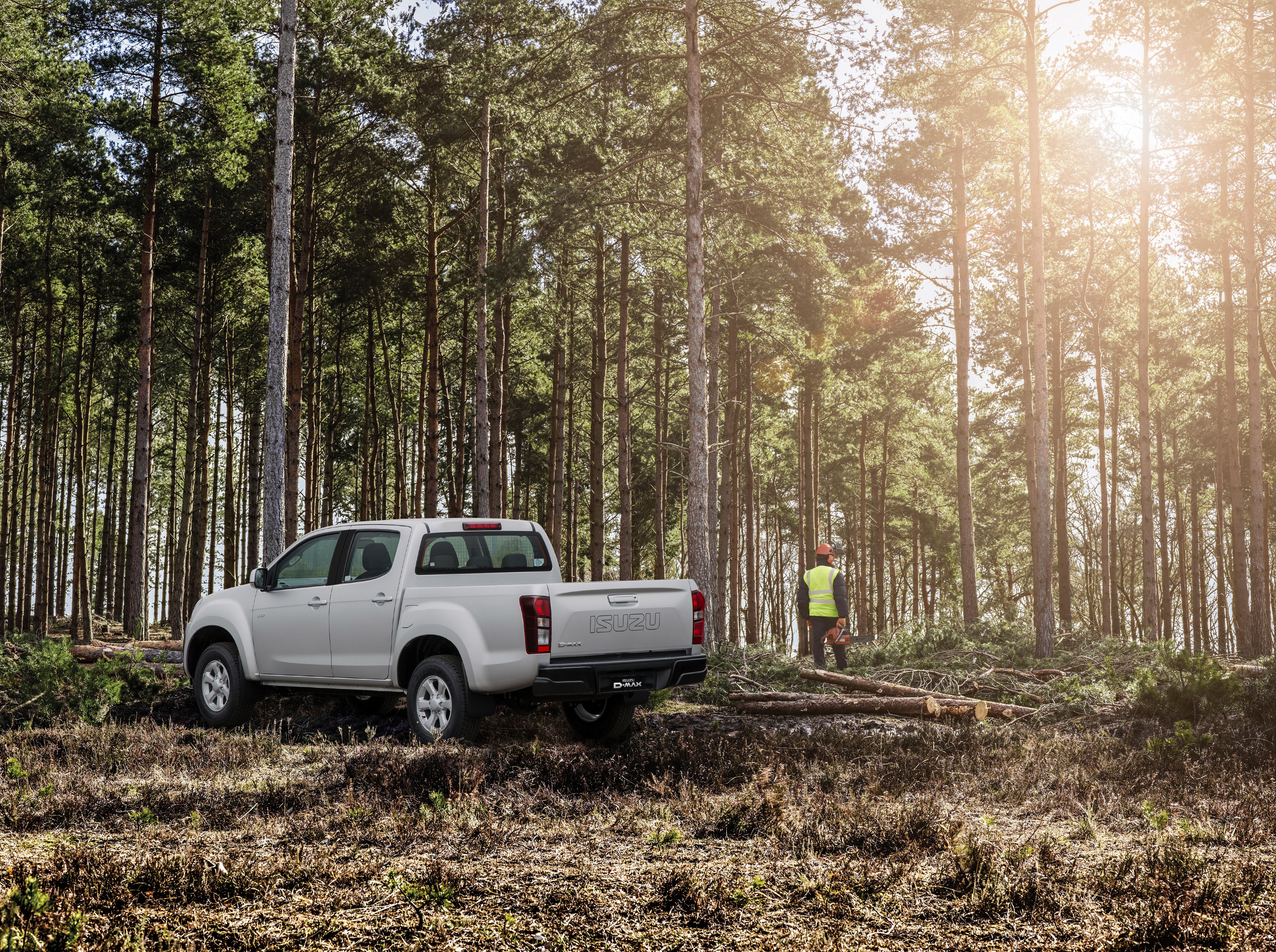 Isuzu D-Max Eiger in the forest
