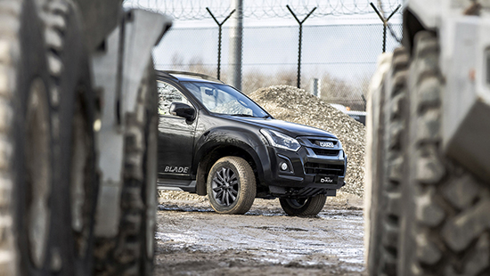 Isuzu D-Max Blade put to work on site