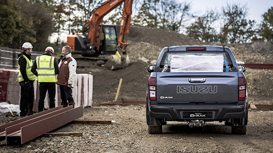 Isuzu D-Max Eiger on building site