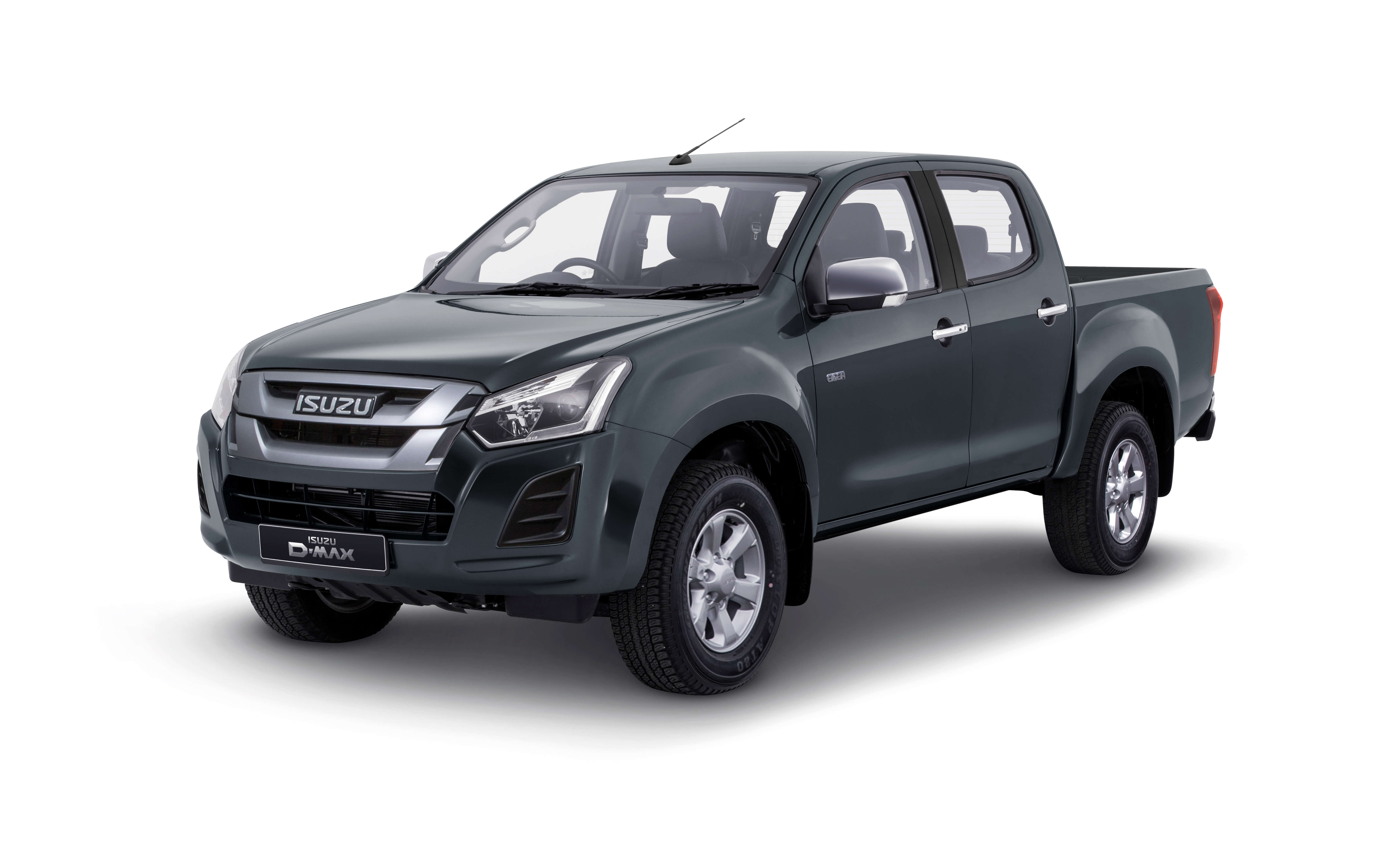 Isuzu D-Max Eiger front view in grey