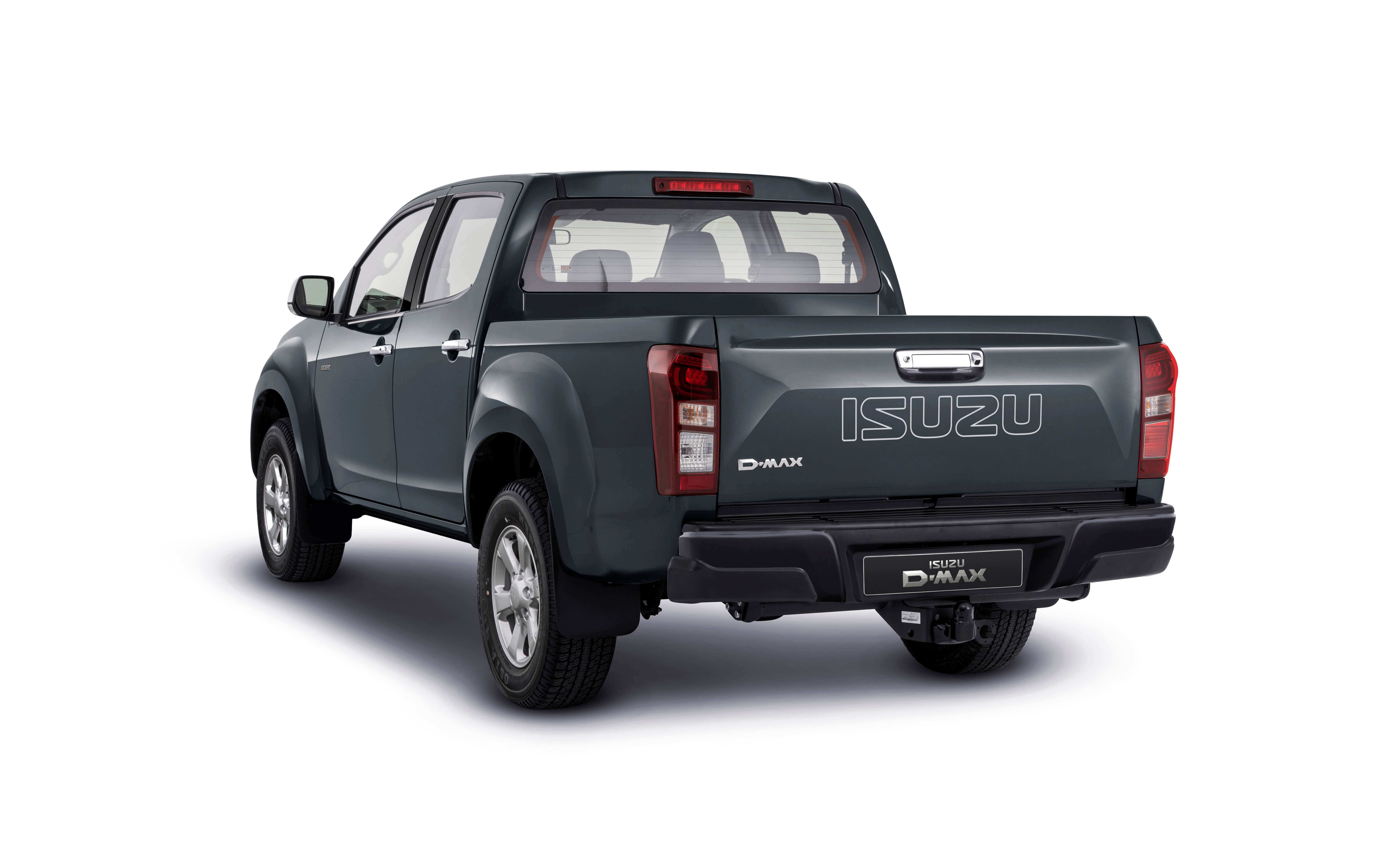 Isuzu D-Max Eiger rear view in grey