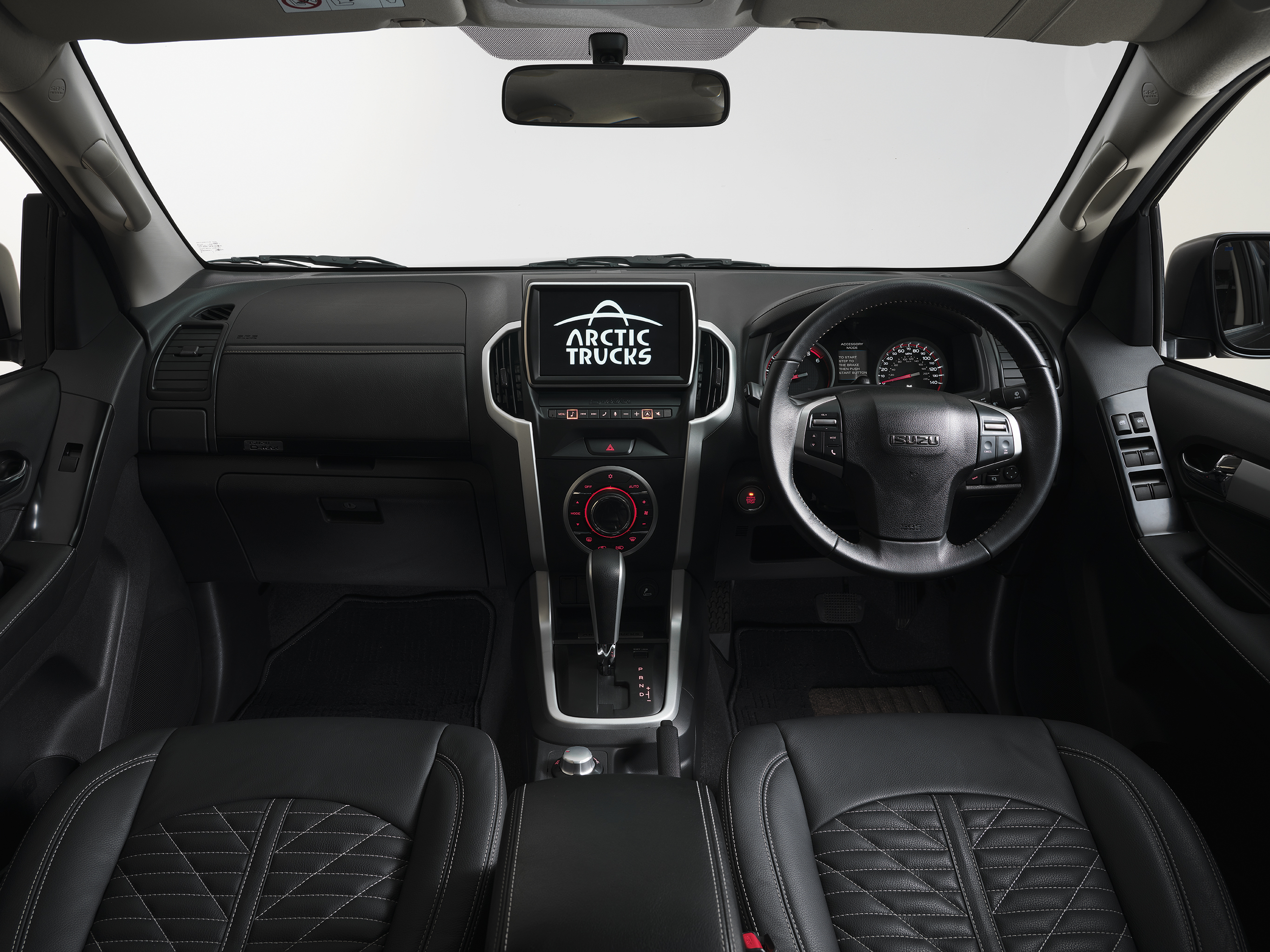 Entertainment features of the Isuzu D-Max Arctic AT35