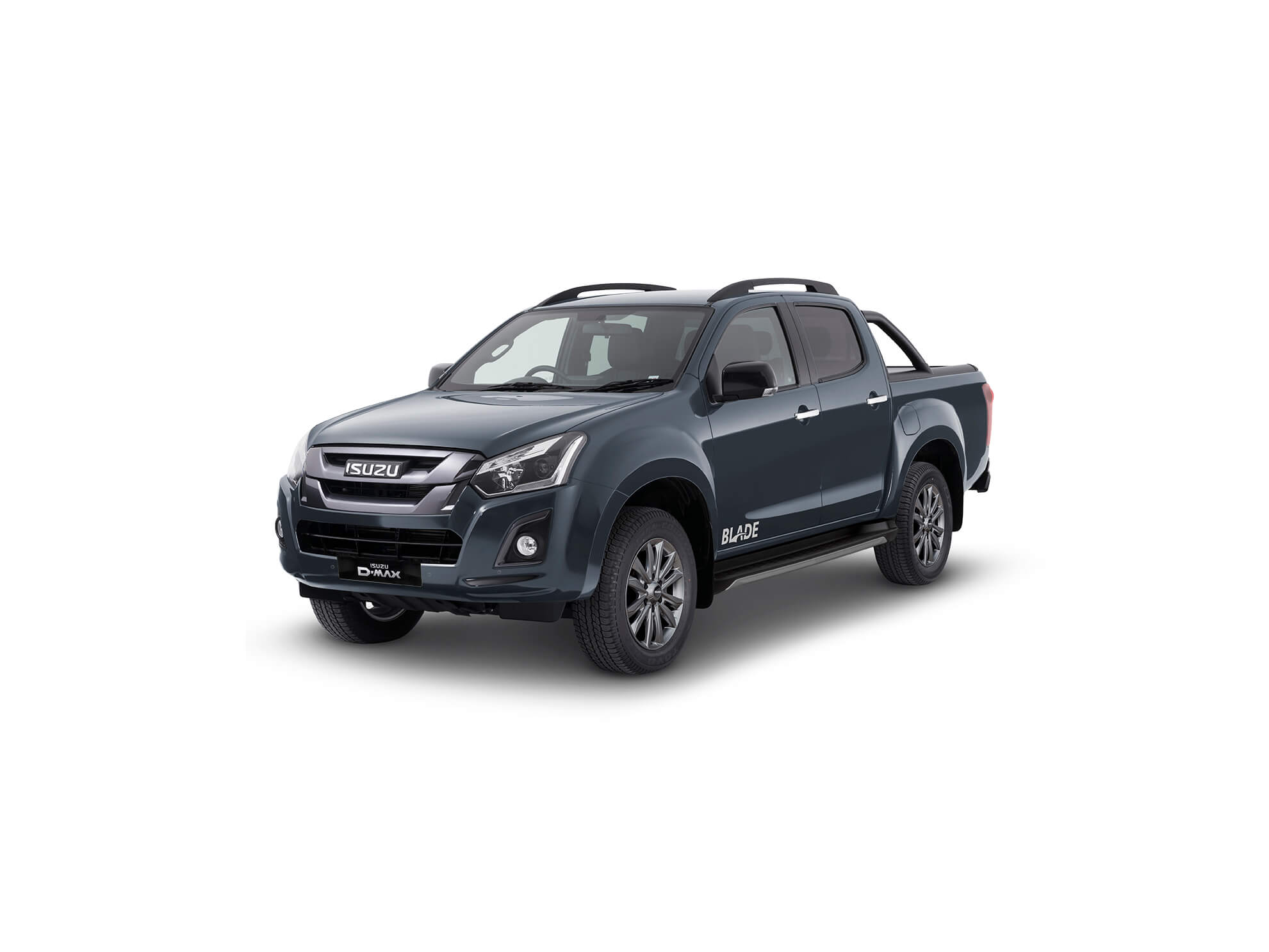 Front view of the Isuzu D-Max Blade in grey