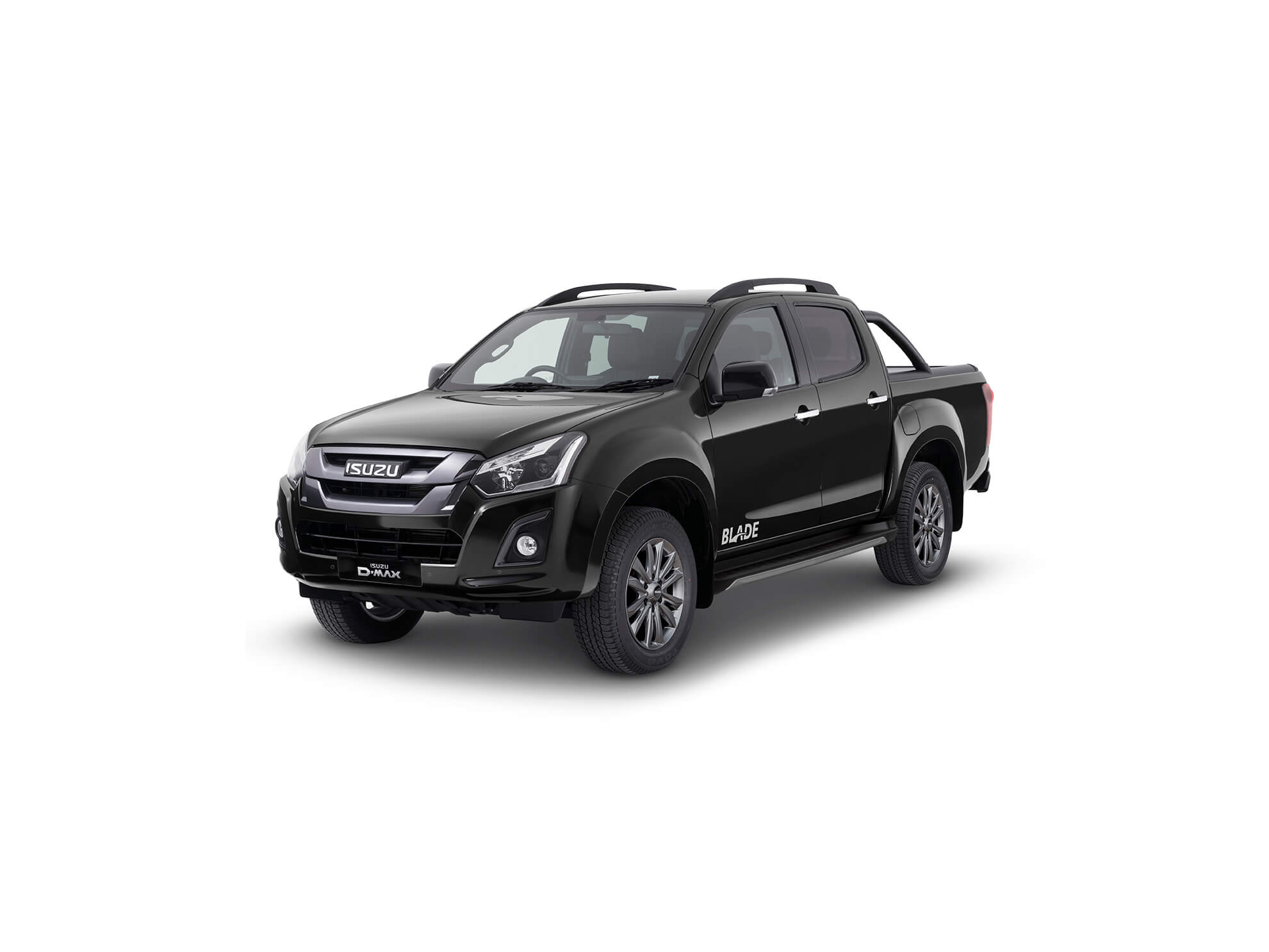 Front view of the Isuzu D-Max Blade in black