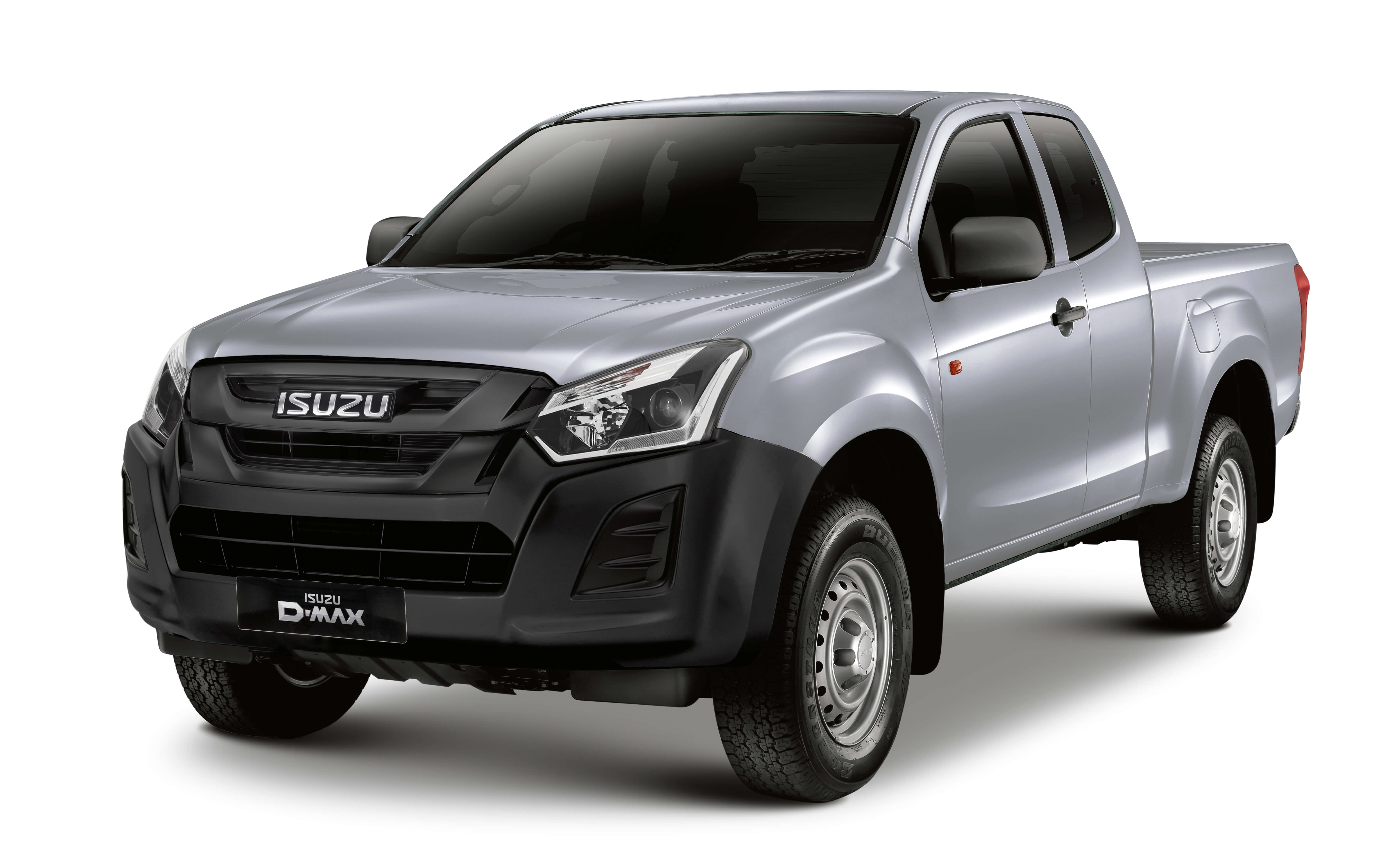 Isuzu D-Max Utility extended cab in silver front view