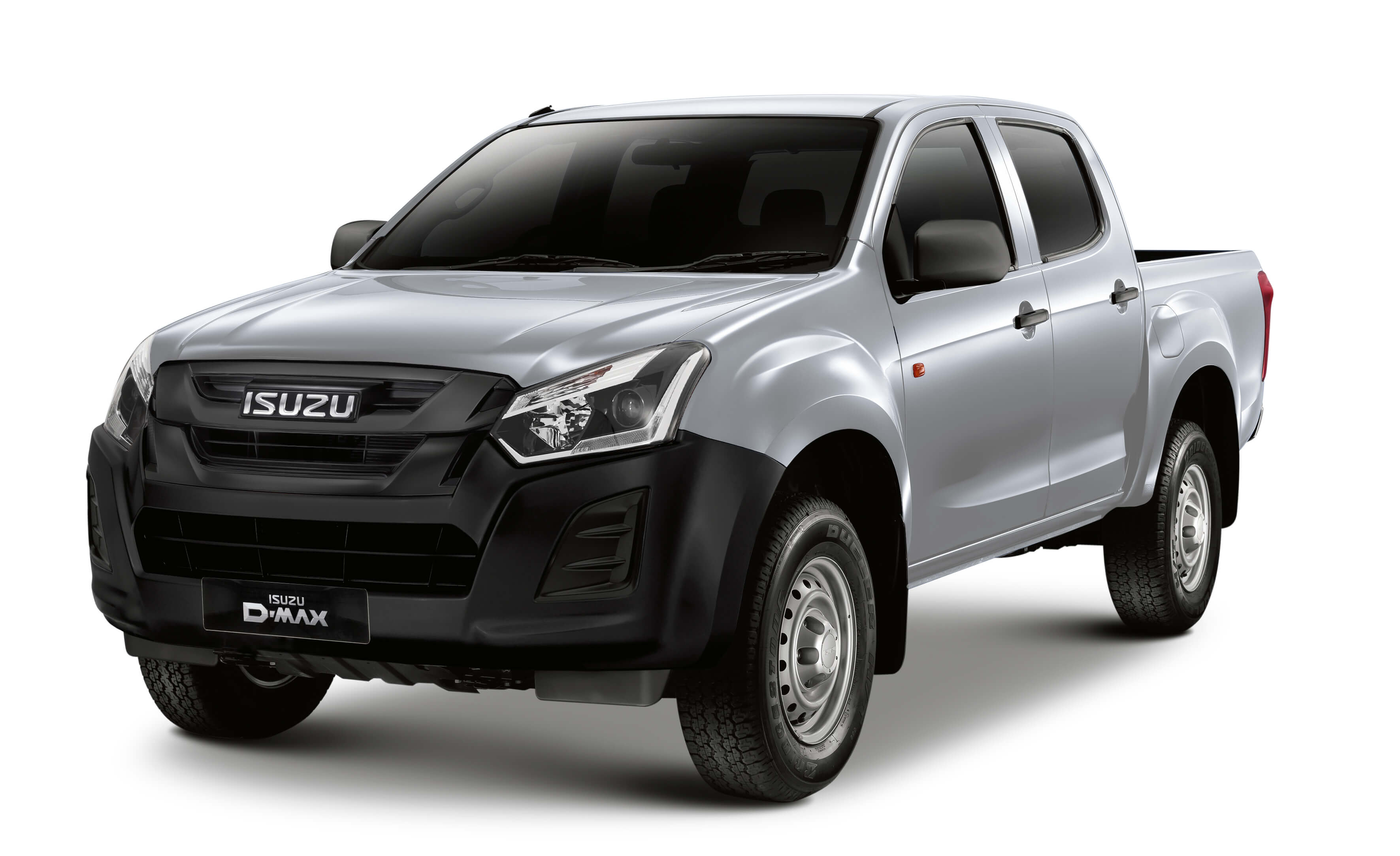 Isuzu D-Max Utility double cab in silver front view