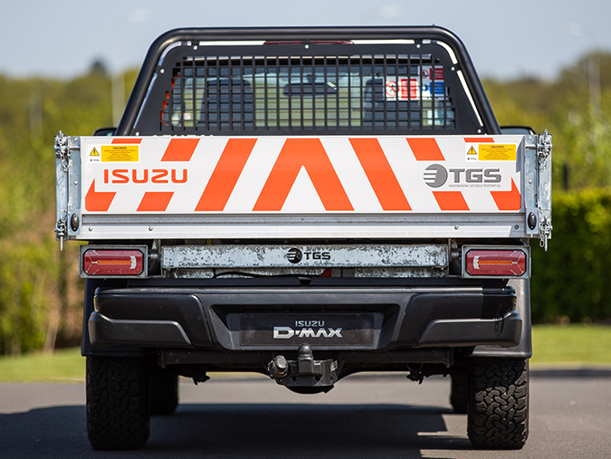 Safety feature of the Isuzu D-Max Utility Extended Cab Tipper Conversion