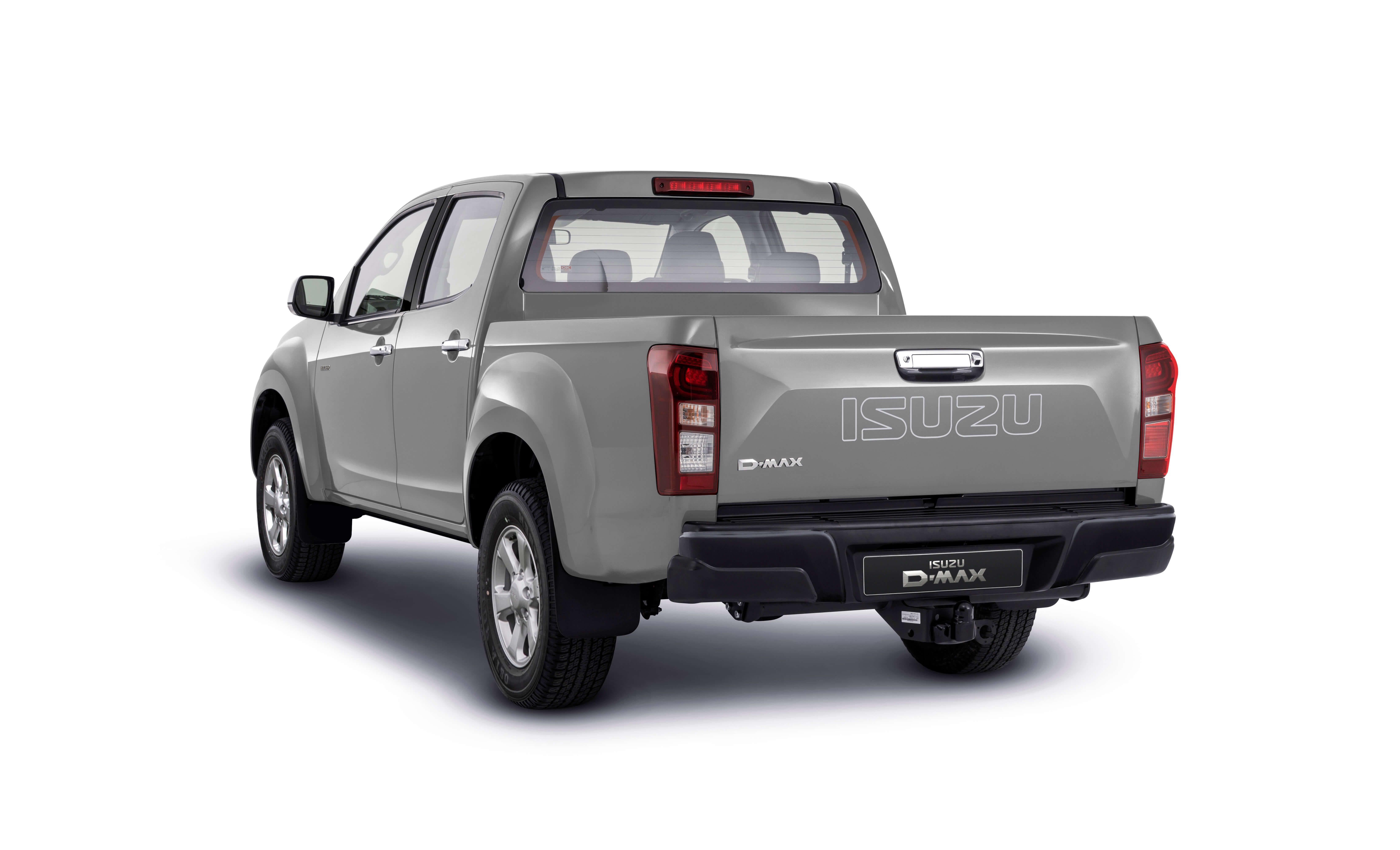 Isuzu D-Max Eiger rear view in silver
