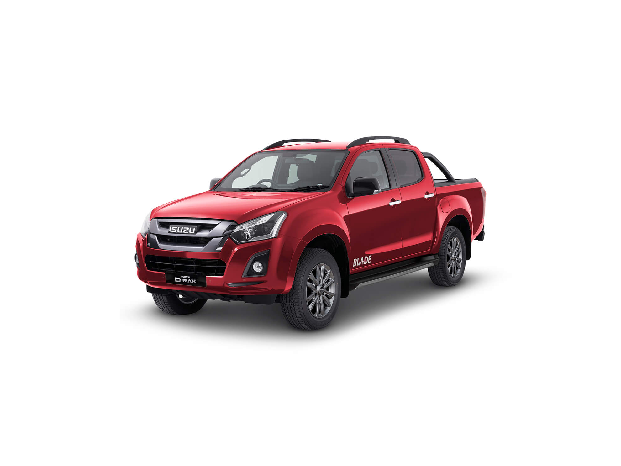 Front view of the Isuzu D-Max Blade in red