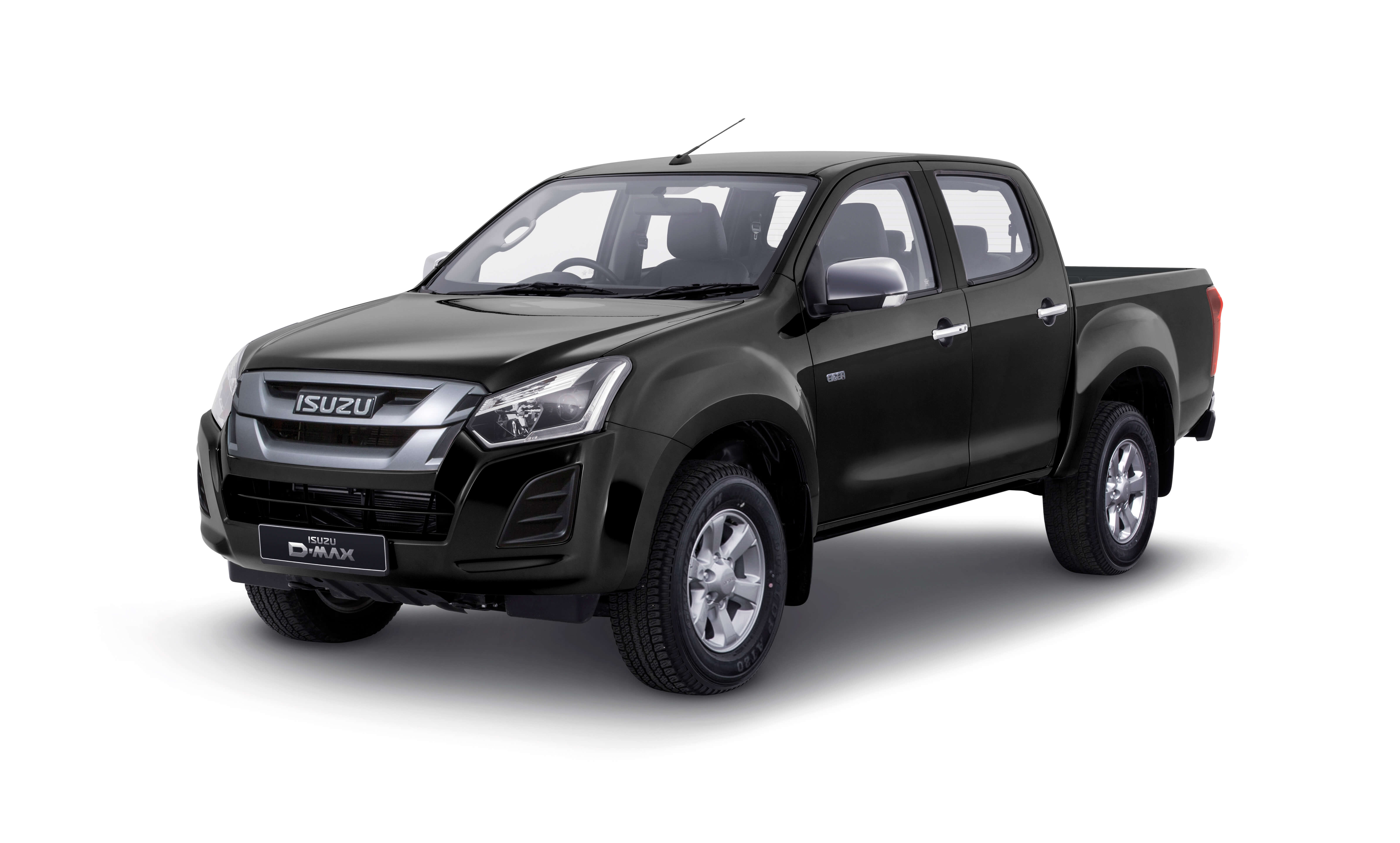 Isuzu D-Max Eiger front view in black