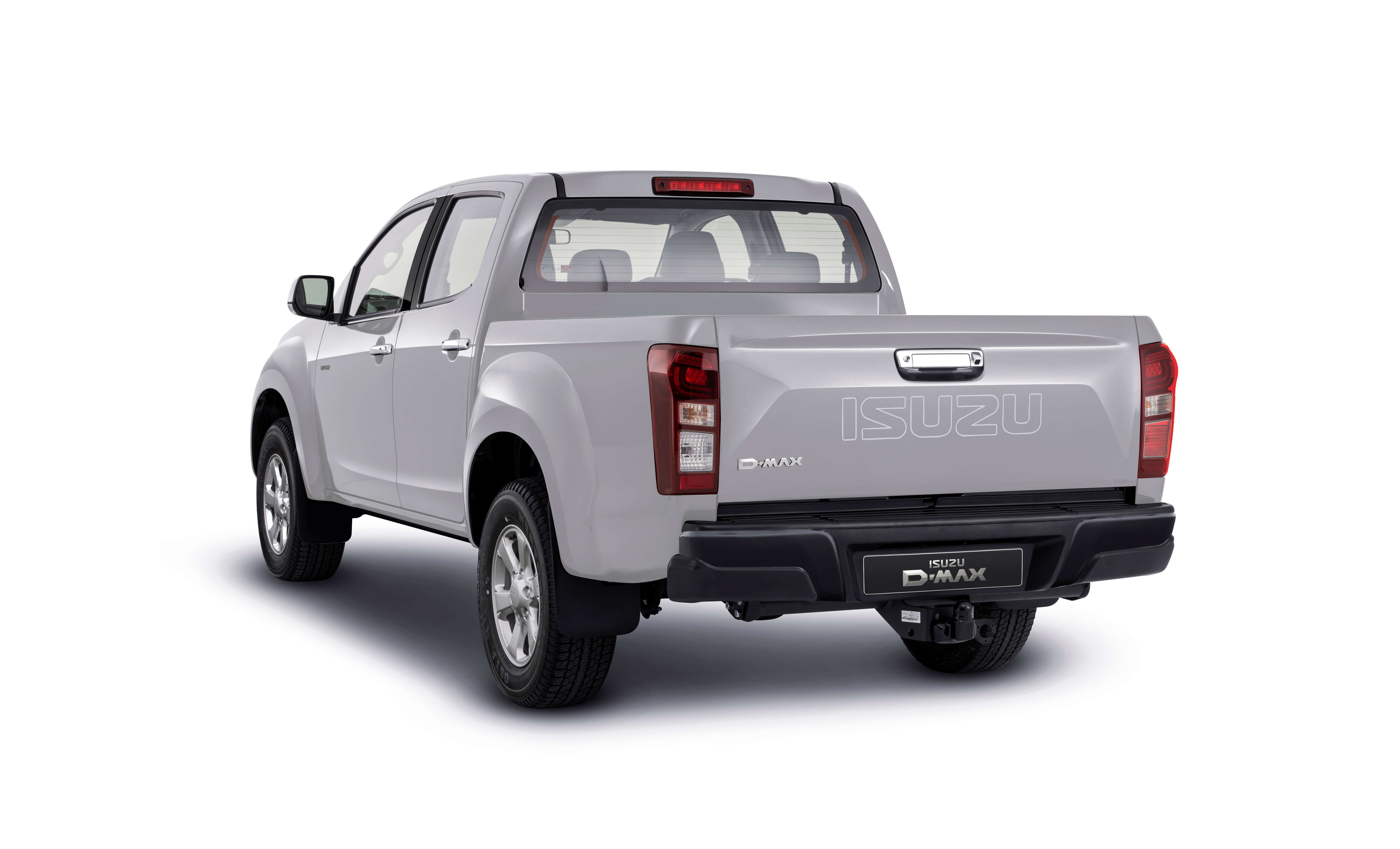 Isuzu D-Max Eiger rear view in white