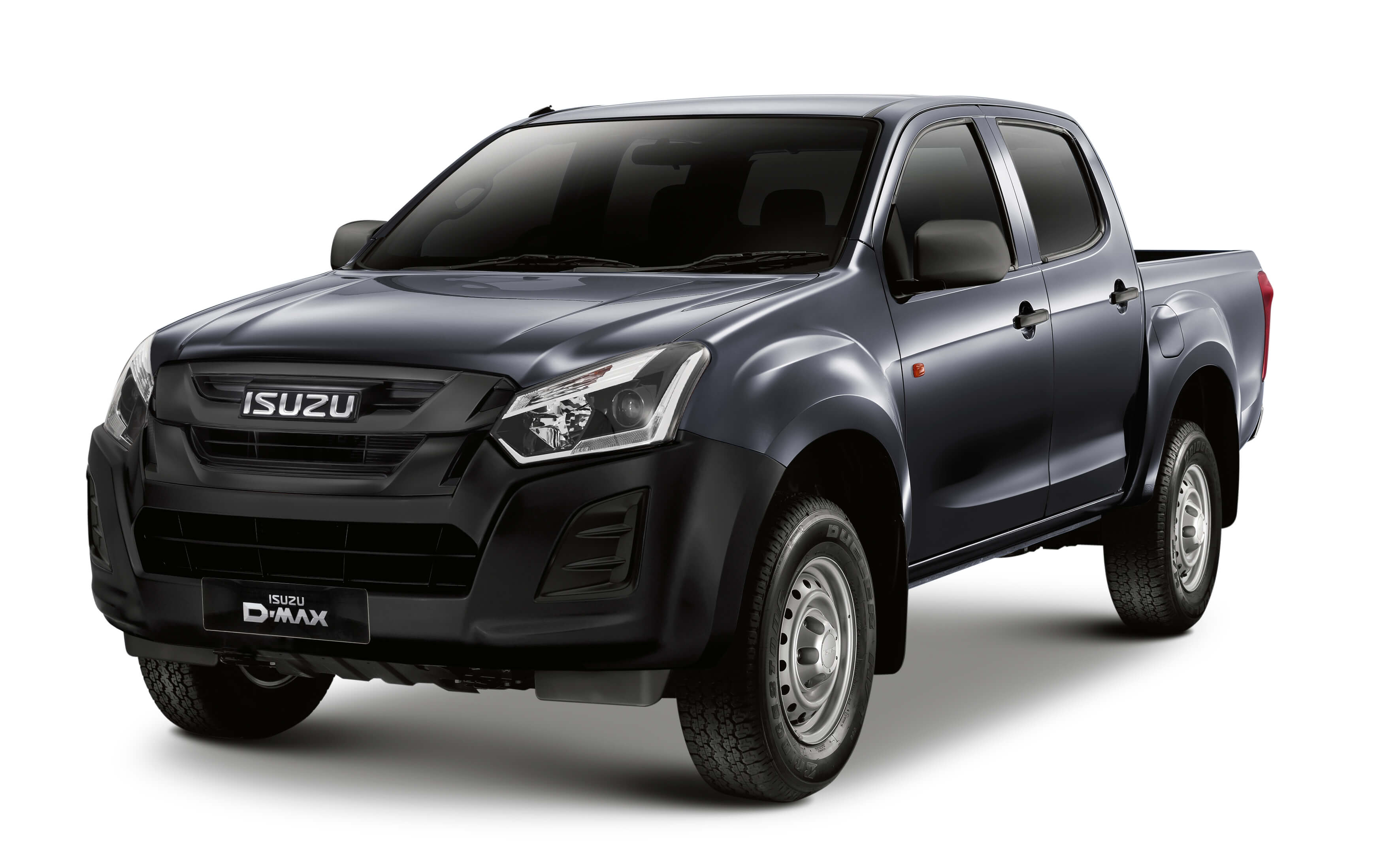 Isuzu D-Max Utility double cab in grey front view