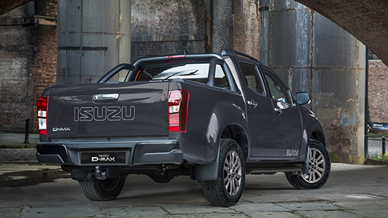 Rear view of the stylish D-Max Blade in black