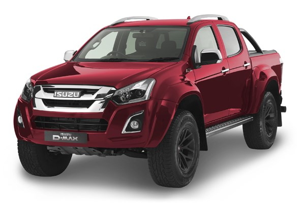 Isuzu D-Max Arctic Truck AT35 in spinel red