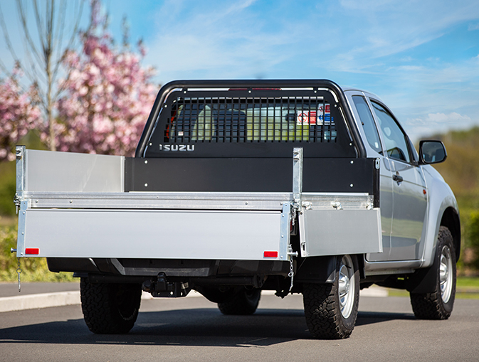 Isuzu D-Max Utility Extended Cab Tipper Conversion exterior rear view