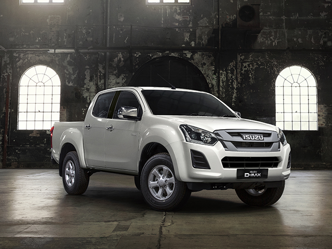 Isuzu D-Max Eiger front view in warehouse