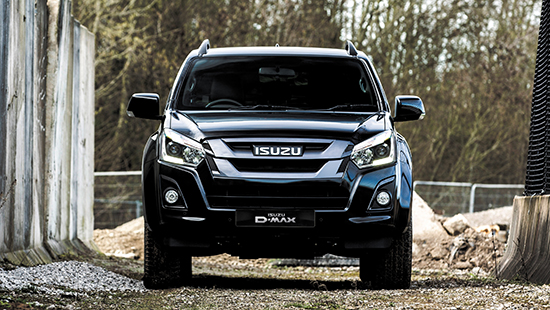 Front view of the Isuzu D-Max Blade on construction site