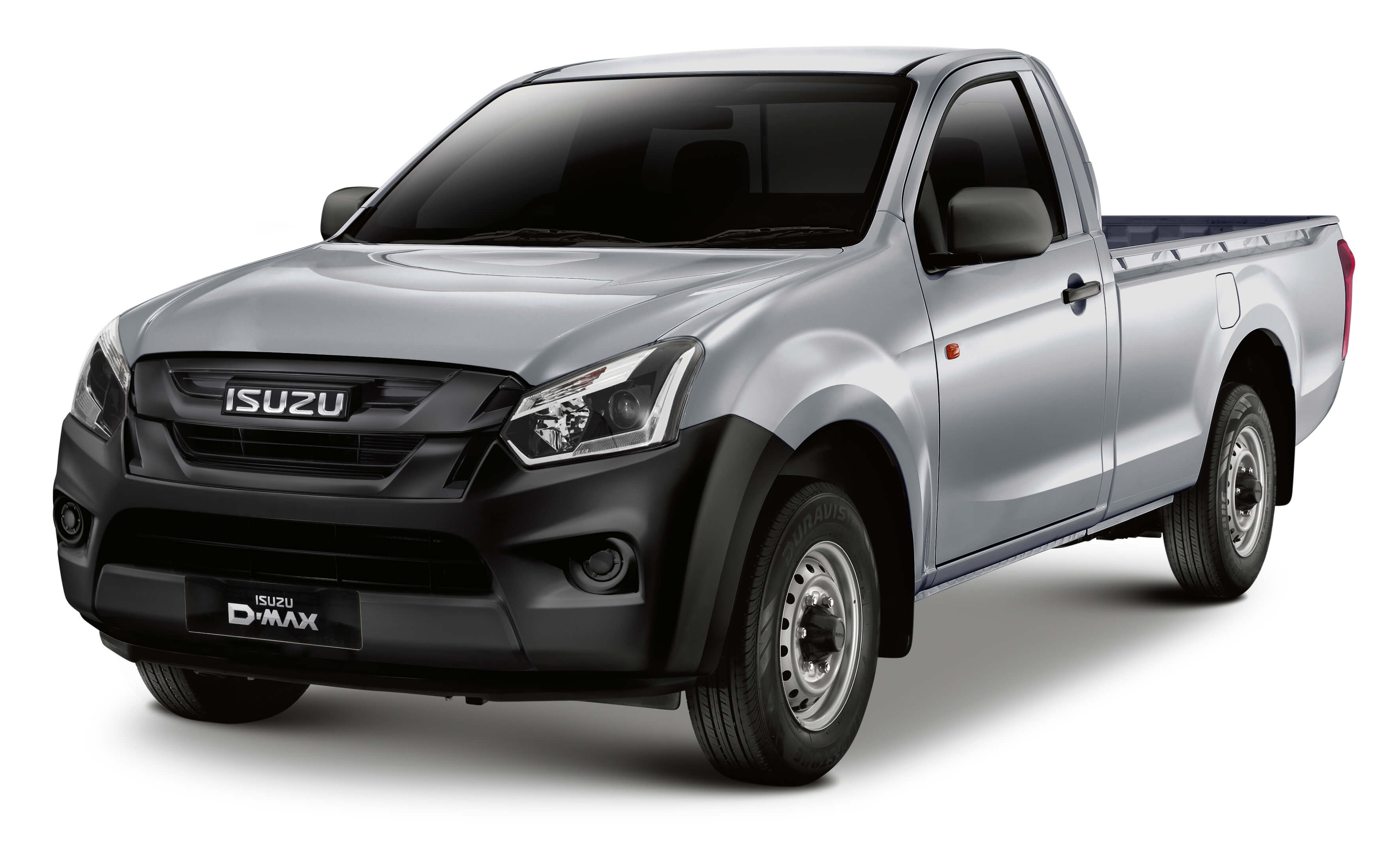 Isuzu D-Max Utility front view in silver